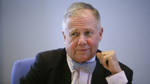 Jim Rogers, author, commodities investor and co-founder Quantum Funds, speaks at an event in New York. ~ Eric Thayer / Reuters